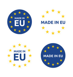 made in europe icon set european union product vector image