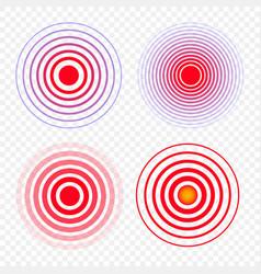 Medical red ring pain circle symbol of pain vector