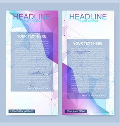 modern set of flyers banners geometric vector image