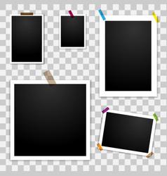 photo frames template mockup vector image