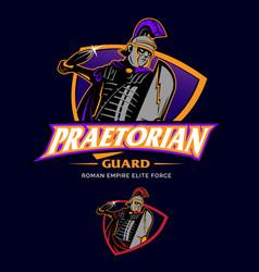 Praetorian guard esport insignia style vector