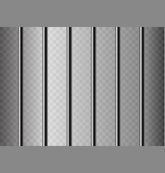 Realistic metal prison grilles isolated on a vector