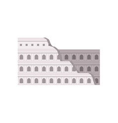 roman colosseum rome italy building vector image