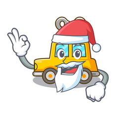 Santa clockwork toy car isolated on mascot vector