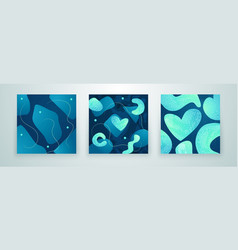set creative minimalist hand drawn abstract vector image