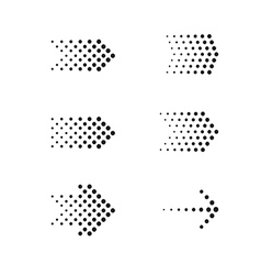 Set of arrows dots vector
