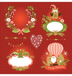 Set of Christmas and New Year graphic elements vector