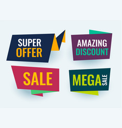 simple origami style sale banner vector image