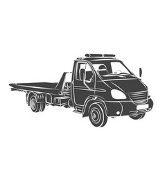 Sketch large tow truck vector