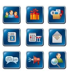 Social media buttons set vector