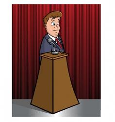 Speaker podium vector