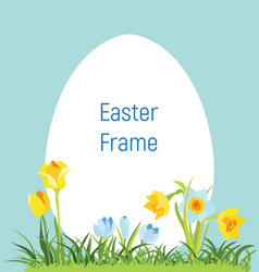 Spring april flowery frame for easter vector