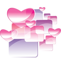 square and heart vector image
