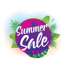 Summer sale background for posters and vector