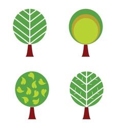 tree color vector image