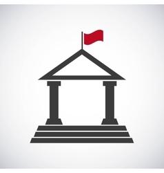 University building classic icon vector