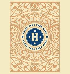 Vintage logo template hotel restaurant business vector