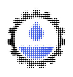 Water service halftone dotted icon vector