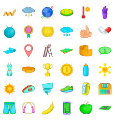Whistle icons set cartoon style vector