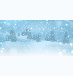 winter christmas background with blue sky heavy vector image