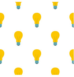 Yellow light bulb pattern flat vector