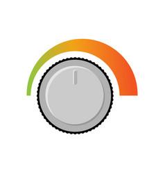 adjusting volume sound level changing loudness vector image