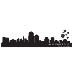 Albuquerque New Mexico skyline Detailed silhouette vector image