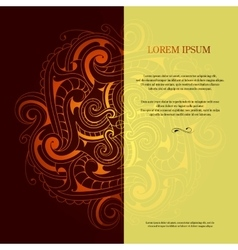 Card design with orient ornament vector image