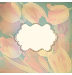 Card with beautiful yellow tulips EPS 10 vector image vector image
