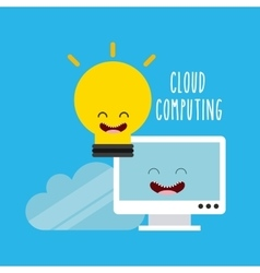 cloud computing character icon vector image