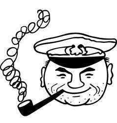 Smoking captain vector image vector image