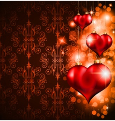 valentines day flyer vector image vector image