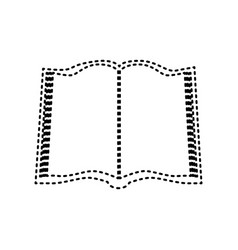 book sign black dashed icon on white vector image vector image