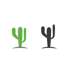 cactus icon logo template vector image