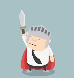 Fat Businessman sword vector image
