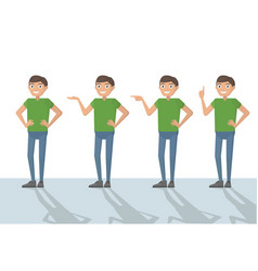 man male person funny cartoon casual in various vector image vector image