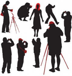 photographers shooting model vector image vector image