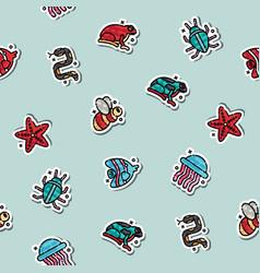 Poisonous creatures concept icons pattern vector