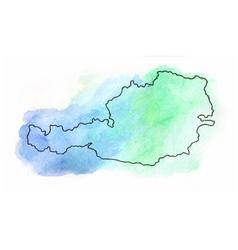 Austria watercolor map vector image vector image