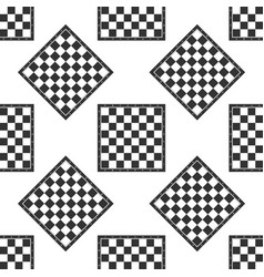 chess board icon seamless pattern on white vector image vector image
