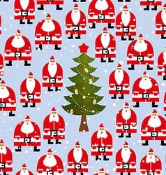 Christmas pattern Santa Claus and Christmas tree vector image vector image