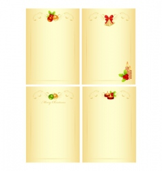 set Christmas form vector image vector image