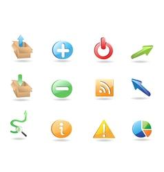 Web Application 3D Icon Set vector image