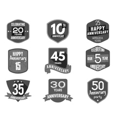 Anniversary badge set of signs and vector image vector image