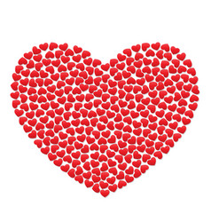 big heart with small red hearts vector image