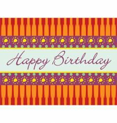 birthday abstract greeting card vector image