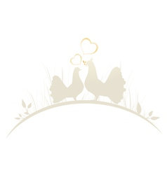 Pigeons In Love vector image vector image