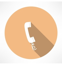 Simple phone icon vector