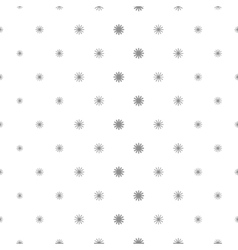 Simple stars repeating pattern vector image