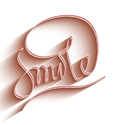 Smile lettering vector image vector image